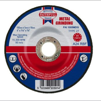 DEPRESSED CENTRE GRINDING DISCS – FOR METAL