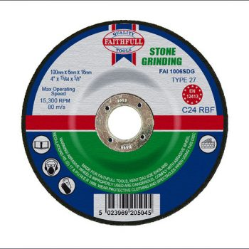 DEPRESSED CENTRE GRINDING DISCS – FOR STONE